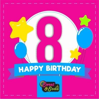 Sweet & Soda 8th Birthday Specials