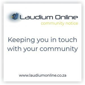 Laudium Community Notice