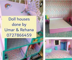 custom made doll houses