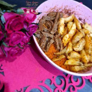 Fillet steak & potato wedges
