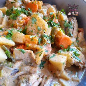 Salt & pepper chicken with veggies