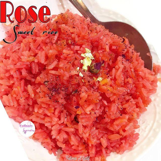 Rose sweet rice